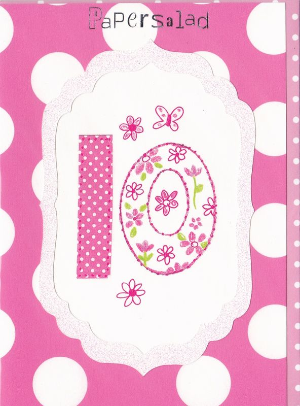 Dotty 10th Birthday Card - product images
