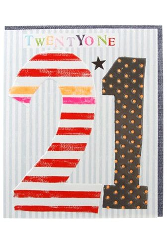 Striped,21st,Birthday,Card,buy 21st birthday card online, buy mens 21st birthday card online, buy twenty first birthday card for him online, buy boys age 21 birthday card, buy age twenty one birthday cards online
