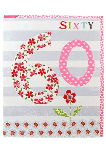 Flowers,60th,Birthday,Card,buy floral 60th birthday cards online, buy female sixty birthday cards online, age 60 birthday cards for her, age sixty birthday cards for her, flowers 60th birthday card,