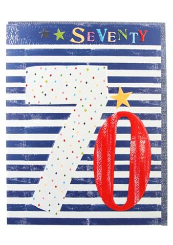 Stars,&,Stripes,70th,Birthday,Card,buy 70th birthday card online, buy mens 70th birthday card online, card for 70th, seventieth card, age seventy card, age 70 card, stripes 70th birthay card, stars and stripes seventieth birthday card, stars age seventy card