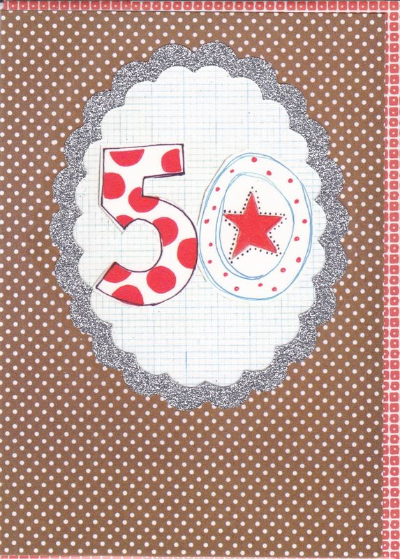 Dotty 50th Birthday Card - product images