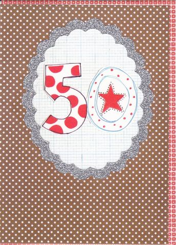 Dotty,50th,Birthday,Card,buy 50th birthday card online, buy age fifty birthday card online, 50th birthday card for him, fiftieth birthday card, 50th card, buy age birthday cards online, age fifty birthday card for her, unisex 50th birthday cards
