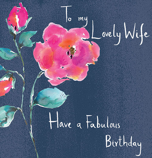 Floral Lovely Wife Birthday Card - product images