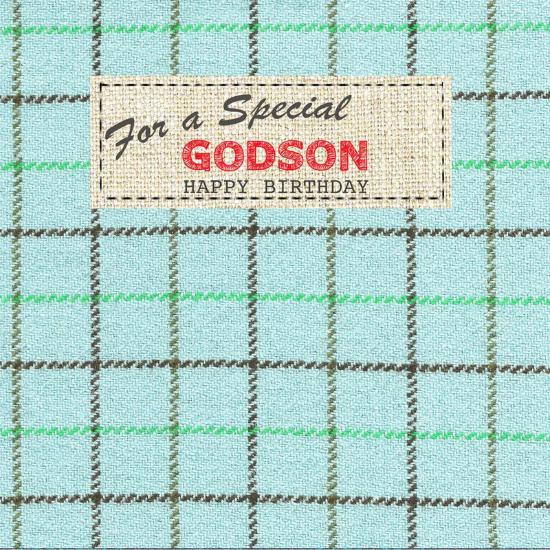 Hand Finished Special Godson Birthday Card - product images