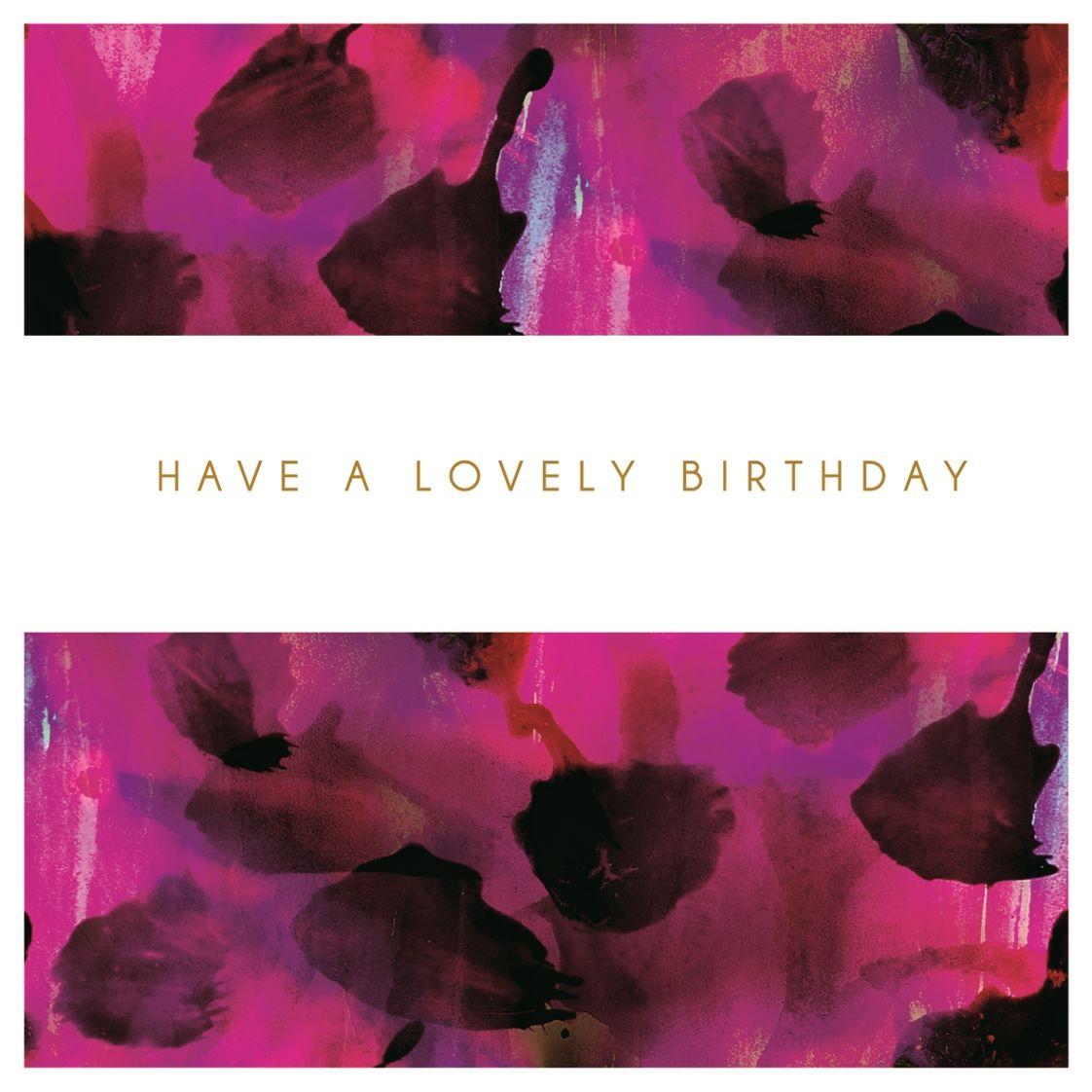 Purple lovely birthday card karenza paperie purple lovely birthday card izmirmasajfo