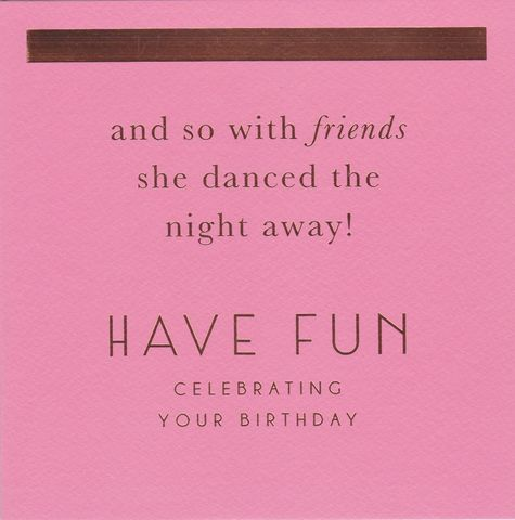 She,Danced,The,Night,Away,Birthday,Card,buy contemporary birthday card online, buy birthday cards for her online, buy female birthday cards online, dance the night away birthday card, pink birthday cards for her, dancing queen birthday cards,
