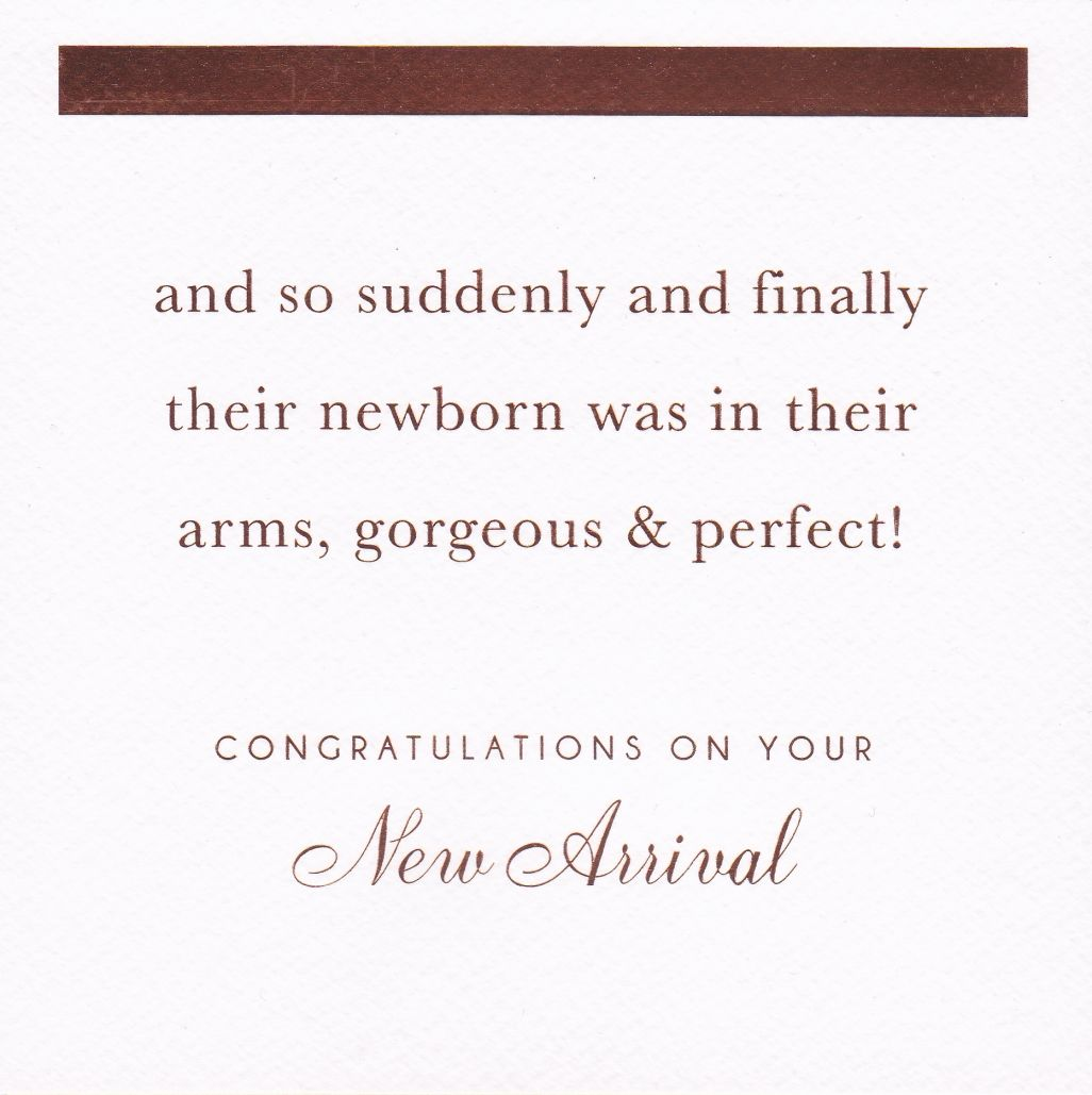 gorgeous perfect congratulations on your new arrival card new baby card