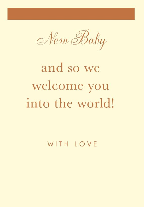 We Welcome You Into The World New Baby Card - product images  of