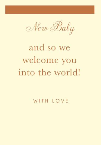 We,Welcome,You,Into,The,World,New,Baby,Card,buy contemporary new baby cards online, buy new baby cards online, buy unisex new baby cards online, baby boy card, baby girl card, newborn baby card, welcome to the world new baby card, new arrival card, congratulations on your new arrival new baby card