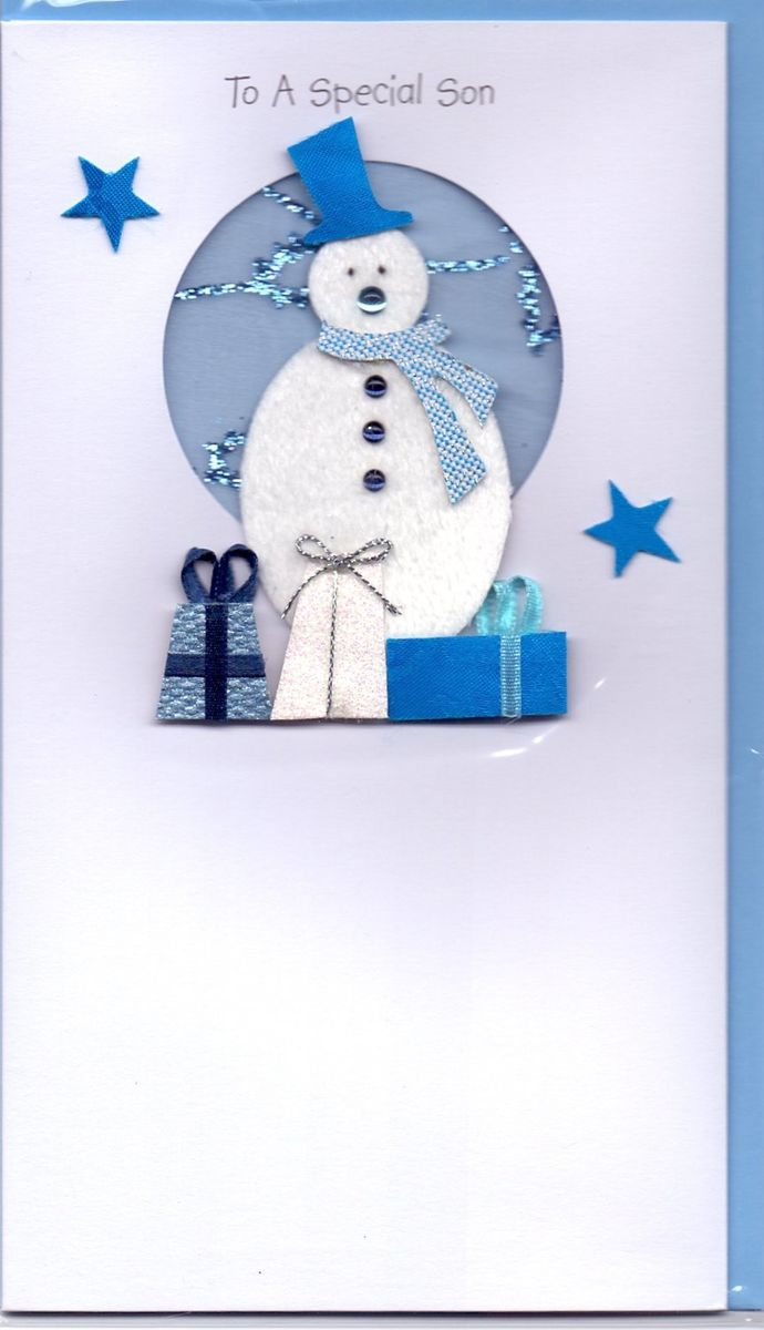 Handmade Special Son Christmas Card - Karenza Paperie