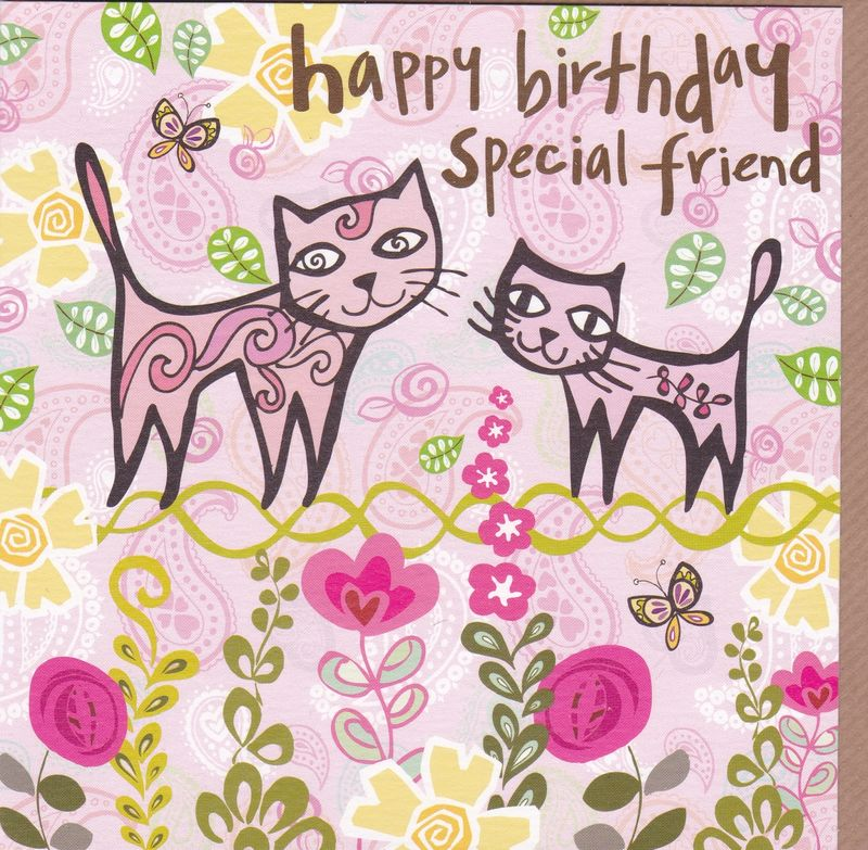 Cats Special Friend Birthday Card