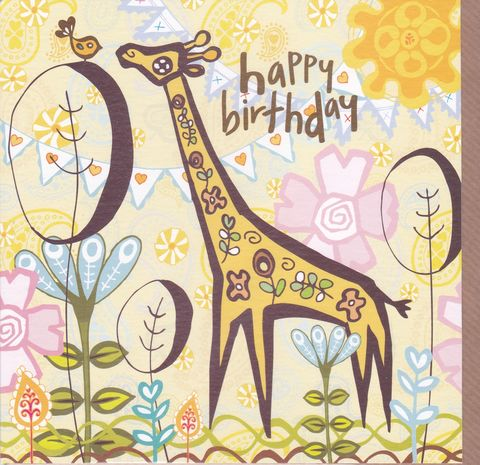 Giraffe,Birthday,Card,buy giraffe birthday cards online, buy giraffe birthday cards for her online, animal birthday cards for her, flowers birthday card, giraffes birthday card, animals birthday card,