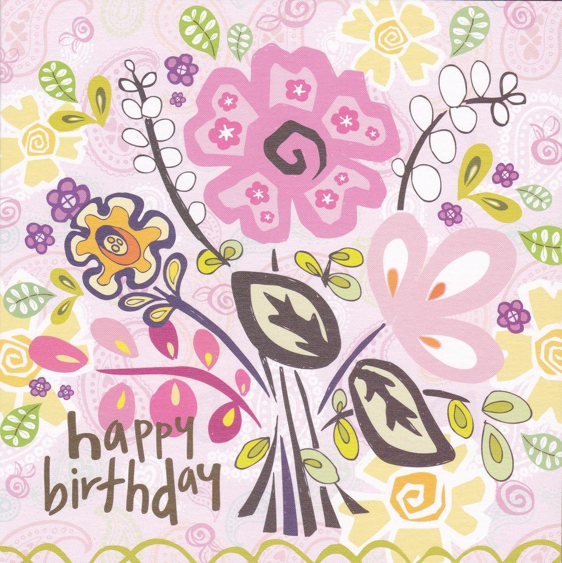 Flowers Birthday Card Karenza Paperie