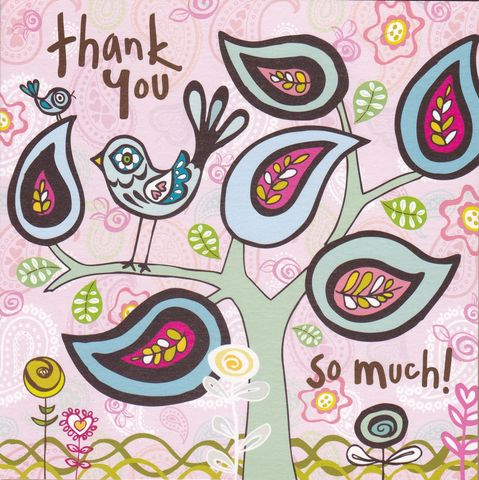 Bird,&,Tree,Thank,You,Card,buy thank you cards online, buy cards for thank you online, bird thank you cards, thank you cards with birds, thank you so much card, tree thank you card