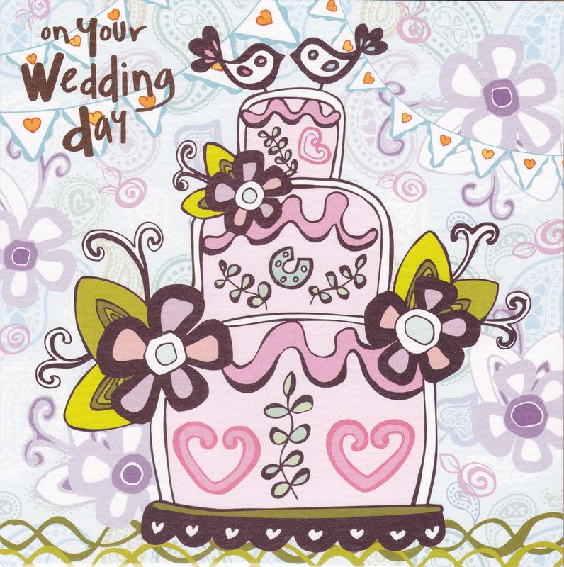 Wedding Cake & Birds Wedding Card - product images