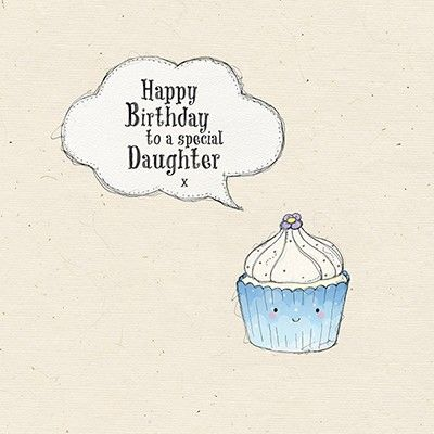 Special Daughter Cupcake Birthday Card - product images