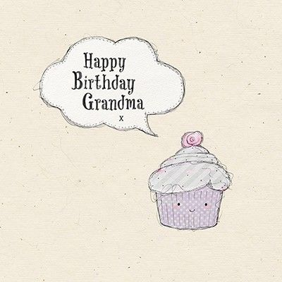 Grandma,Cupcake,Birthday,Card,buy grandma birthday card online, buy birthday cards for grandmothers, buy birthday cards for grandparents, grandma cupcake birthday card, card for granny, card for gran