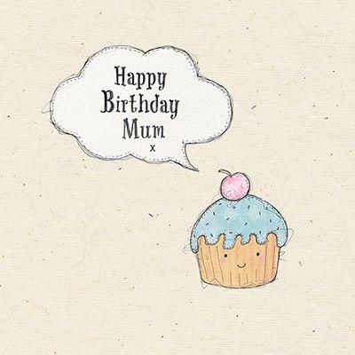 Mum Cupcake Birthday Card