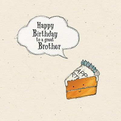 Brother Birthday Cake Birthday Card - product images