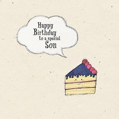 Son Birthday Cake Birthday Card - product images