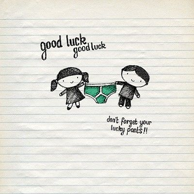 Don't Forget Your Lucky Pants Good Luck Card - product images