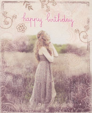 Lady,In,Meadow,Birthday,Card,buy birthday girl birthday cards online, buy cards for the birthday girl online, birthday cards for her, female birthday cards, girls birthday card