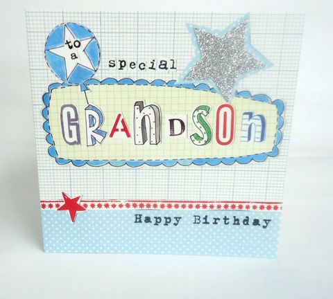 Stars,&,Balloon,Grandson,Birthday,Card,buy grandson birthday card online, buy birthday card for grandson online, card for grandson, grand son card, grand-son card, birthday cards for grandsons, grandchild card
