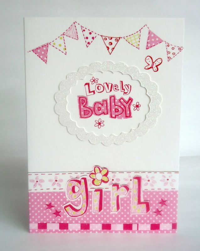 Lovely Baby Girl Card - product images  of