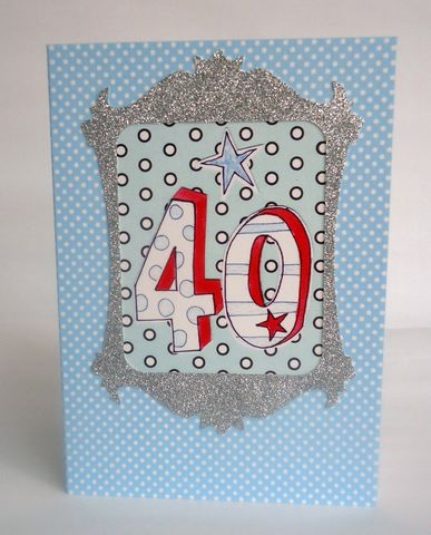 Dotty,40th,Birthday,Card,buy 40th birthday card online, buy birthday cards for fortieth online, card for 40th, 40th card, age 40 card, fortieth birthday cards for him, male age forty card age forty birthday cards for him, unisex 40th birthday card