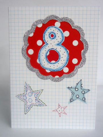 Stars,8th,Birthday,Card,buy 8th birthday card online, buy boys age eight birthday card online, buy stars 8th birthday card online, stars 8th birthday card, age eight birthday cards with stars, boys age eight cards