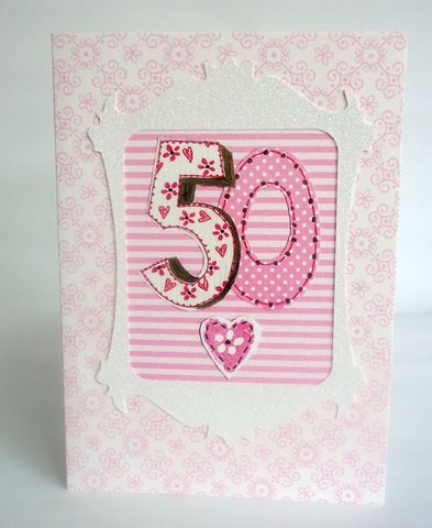 Pink,50th,Birthday,Card,buy pink 50th birthday card for her online, female age fifty birthday cards, buy 50th birthday card online, heart 50th birthday card for her, fiftieth birthday cards for her, girls age fifty birthday card