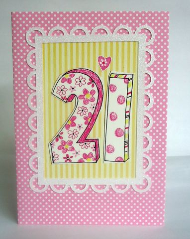 Dotty,21st,Birthday,Card,buy pink 21st birthday card for her online, female age twenty-one birthday cards, buy 21st birthday card online, dotty female twenty-first birthday cards, heart twenty-first birthday card, pink spots 21st birthday cards