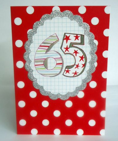 Dotty,65th,Birthday,Card,buy 65th birthday card online, buy dotty age sixty five birthday cards online, sixy-fifth birthday cards for him, age 65 birthday cards for her, unisex 65th birthday cards, spotty mens 65th birthday card
