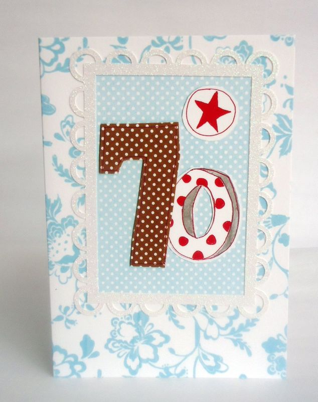 Dotty 70th Birthday Card - product images  of