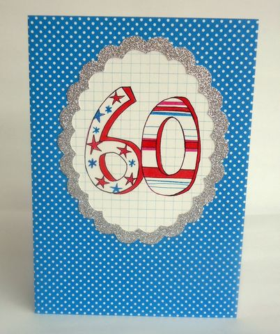 Dotty,60th,Birthday,Card,buy 60th birthday card online, buy dotty age sixty birthday cards online, sixtieth birthday cards for him, age 60 birthday cards for her, unisex 60th birthday cards, spotty mens 60th birthday card