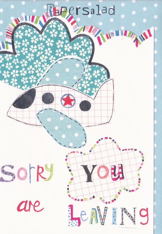 Airplane Sorry You Are Leaving Card - product images  of