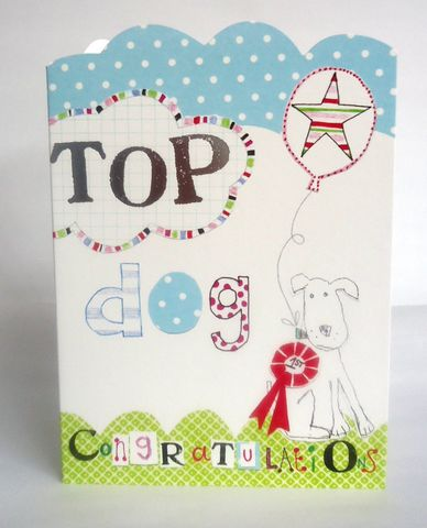 Top,Dog,Congratulations,Card,buy congratulations cards online, buy well done cards online, buy congrats cards online, congratulations cards with dog, top dog well done card, dog congratulations cards