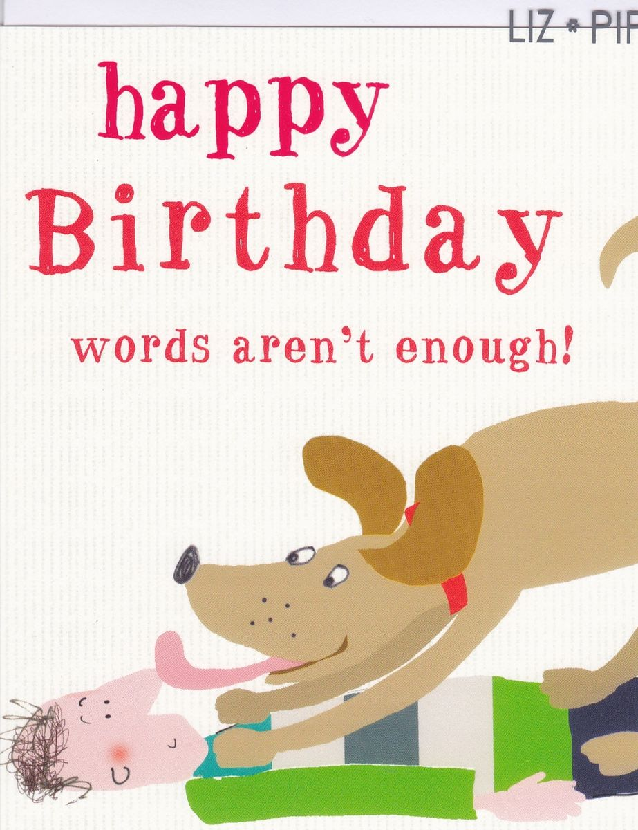 Man Dog Birthday Card