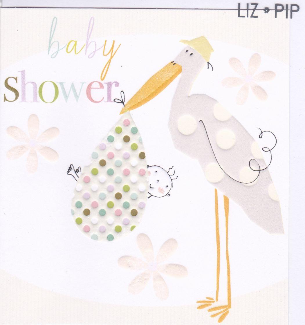 Stork Baby Shower Card Karenza Paperie