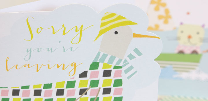 Bird Sorry You Are Leaving Card - product images  of