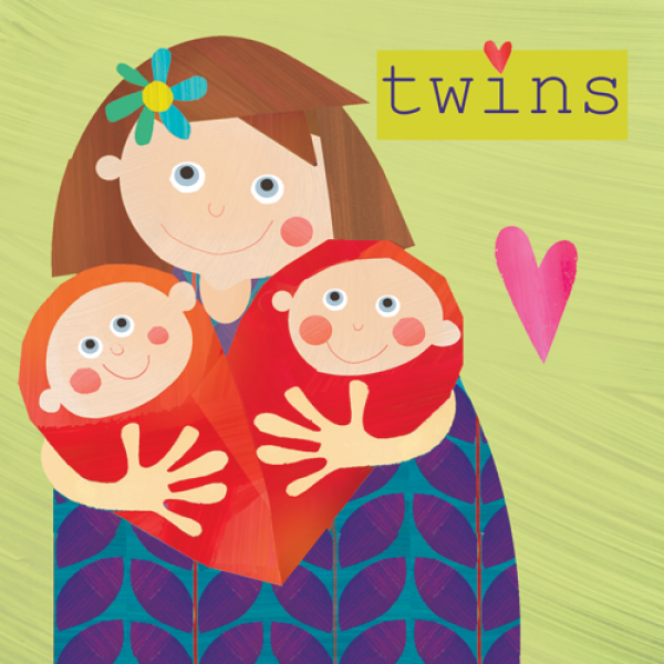 New Baby Twins Card - product images
