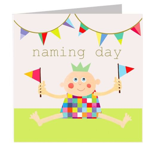 Baby Naming Day Card - product images