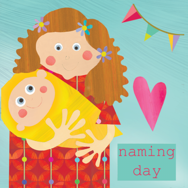 Mum & Baby Naming Day Card - product images