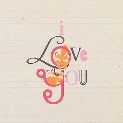 Fox I Love You Valentine's Day Card - product images