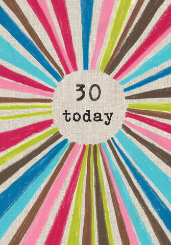 Striped,30,Today,Birthday,Card,buy 30th birthday card online, buy 30th birthday card for him online, male age 30 birthday cards, 30 today birthday cards, buy thirtieth birthday cards online, age thirty cards