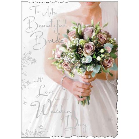 To,My,Beautiful,Bride,On,Our,Wedding,Day,-,Large,Card,buy to my beautiful bride on our wedding day card online, buy to my bride wedding day card online, buy wedding day cards for brides online, to my wife to be wedding card, wedding day cards for wife to be,