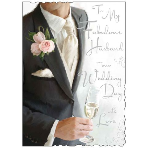 To,My,Fabulous,Husband,On,Our,Wedding,Day,-,Large,Card,buy to my fabulous husband to be on our wedding day card online, buy to my husband wedding day card online, buy wedding day cards for husbands online, to my husband to be wedding card, wedding day cards for husband to be,