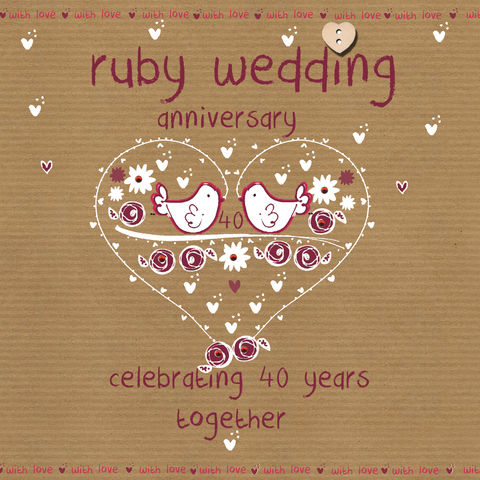 Ruby,Wedding,Anniversary,Card,buy ruby wedding anniversary card online buy card for 40th wedding anniversary online, fortieth wedding anniversary cards, cards for wedding anniversaries