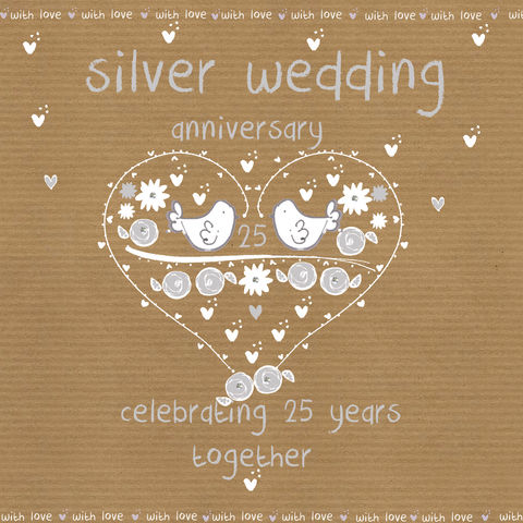 Silver,Wedding,Anniversary,Card,buy silver wedding anniversary card online, buy cards for 25th wedding anniversary online, cards for wedding anniversaries, silver anniversary card, twenty-fifth weding anniversary card