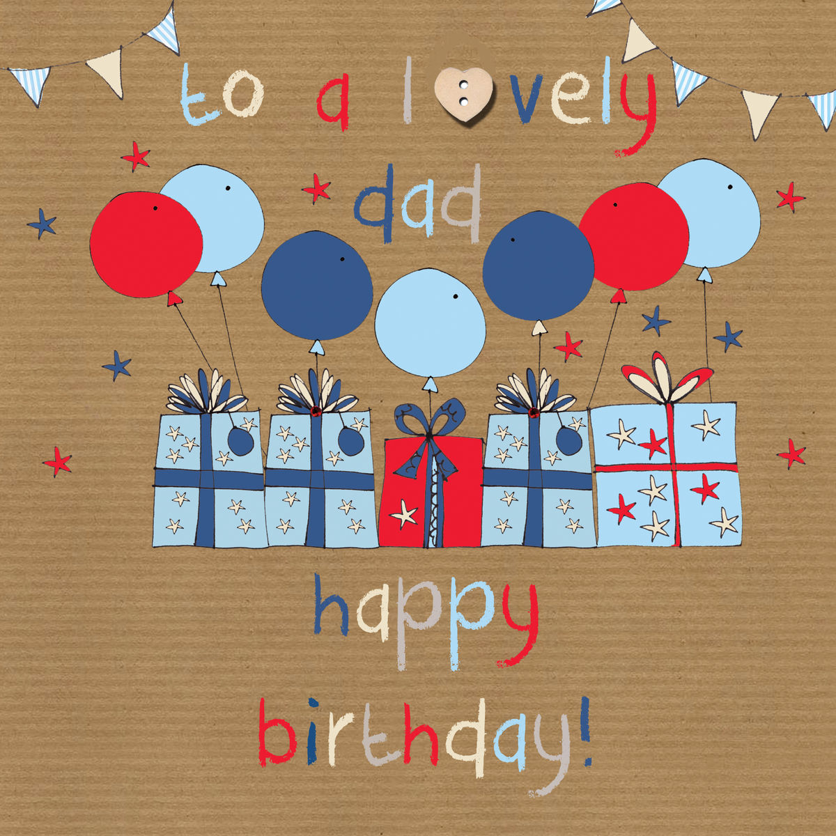 To A Lovely Dad Birthday Card